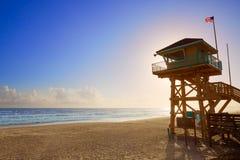 Daytona Beach in Florida baywatch tower USA Royalty Free Stock Photography
