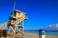 Daytona Beach in Florida baywatch tower USA Royalty Free Stock Photos