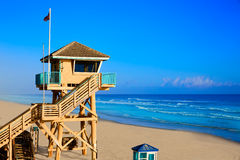 Daytona Beach in Florida baywatch tower USA Royalty Free Stock Images