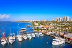 Daytona Beach in Florida da porto Stati Uniti arancio Immagini Stock Libere da Diritti