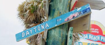 Free Daytona Beach, Florida Direction Sign Royalty Free Stock Images - 193756969