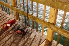 Daytona Beach Florida fishing tackle at pier Stock Photography