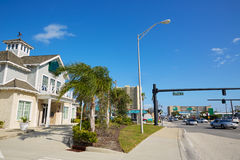 Daytona Beach in Florida am Hafen orange USA Lizenzfreie Stockbilder