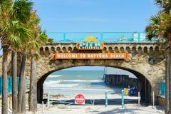 Daytona Beach in Florida stock images