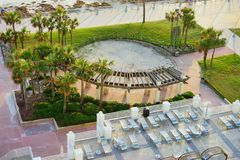 Daytona Beach in Florida. Daytona Beach landscape: ocean view hotel, Florida, USA Royalty Free Stock Images