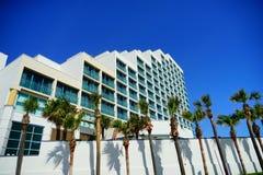 Daytona Beach in Florida. Daytona Beach landscape: ocean view hotel, Florida, USA royalty free stock photo