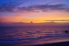Daytona Beach in Florida. Daytona Beach landscape: sun rise, Florida, USA Stock Image
