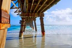 Daytona Beach in Florida met pijler de V.S. stock afbeeldingen