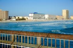 Daytona Beach in Florida from pier US Stock Photos