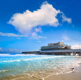 Daytona Beach in Florida with pier USA Royalty Free Stock Photo