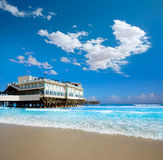 Daytona Beach in Florida with pier USA Stock Images