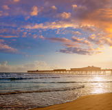 Daytona Beach in Florida with pier USA Stock Image