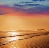 Daytona Beach in Florida with pier USA Stock Image