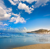 Daytona Beach in Florida with pier USA Royalty Free Stock Photos