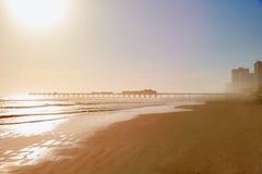 Daytona Beach in Florida with pier USA Royalty Free Stock Photography