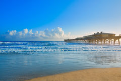 Daytona Beach in Florida with pier USA Royalty Free Stock Images