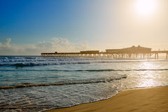 Daytona Beach in Florida with pier USA Royalty Free Stock Image