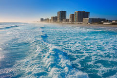 Daytona Beach in Florida shore buildings Stock Image