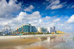 Daytona Beach Florida. Daytona Beach, Florida, USA beachfront skyline Stock Photography