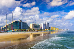 Daytona Beach Florida. Daytona Beach, Florida, USA beachfront skyline Stock Image