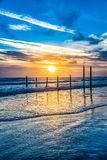 Daytona Beach, Florida, USA at Sunrise royalty free stock image