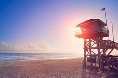 Daytona Beach i det Florida baywatchtornet USA royaltyfri fotografi