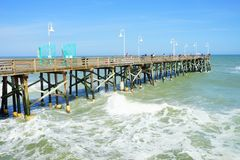 Daytona Beach landscape. Daytona Beach pier and ocean, Florida, USA Royalty Free Stock Image