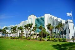 Hilton at Daytona Beach in Florida. Daytona Beach landscape: hilton ocean view hotel and resort, Florida, USA royalty free stock images
