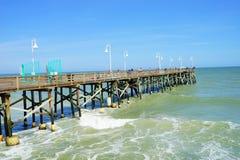 Daytona Beach ocean view pier. And wave, Florida, USA Stock Image