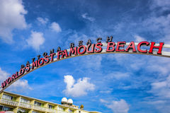 Daytona Beach tecken Royaltyfria Bilder