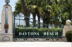 Daytona Beach välkomnande staket Arkivbild