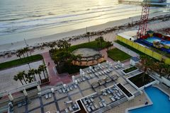 Daytona Beach våg i morgonen Arkivfoto
