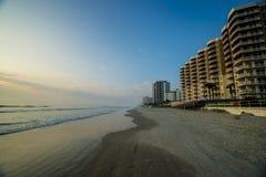 Daytona Beach vroeg am Stock Foto's