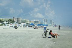 Daytona is het strand Stock Foto's