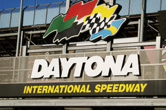 Daytona International Speedway Sign. Stock Photo