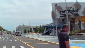 Daytona international Speedway visitor center stock video footage