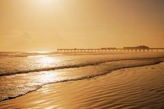 Daytona plaża w Floryda z molo usa fotografia stock