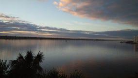 Daytona solnedgång Arkivfoto