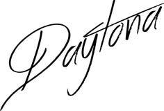Daytona text sign illustration Royalty Free Stock Photos