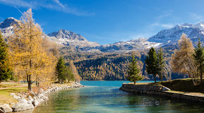 A daytrip in st.  moritz Royalty Free Stock Photo