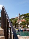 Port of Hvar in Croatia stock photos