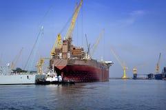 Dayview av den Sembawang skeppsvarven. Royaltyfria Bilder