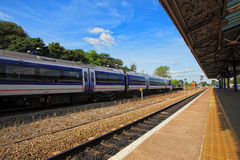Dayview de station de train chez Bicester Angleterre images stock