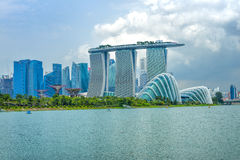 Dayview of Marina Bay Sands Resort Hotel Stock Images