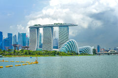 Dayview of Marina Bay Sands Resort Hotel Royalty Free Stock Photography
