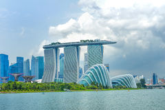 Dayview of Marina Bay Sands Resort Hotel Royalty Free Stock Image