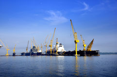 Dayview of Sembawang Shipyard. Royalty Free Stock Photos