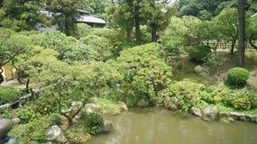 Dazaifu, Japan. Garden in Dazaifu village, Japan royalty free stock image
