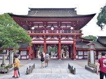 Dazaifu Tenmangu shrine. Fukuoka, Japan - July 16, 2016: Dazaifu Tenmangu is a shrine built over the grave of Michizane Sugawara venerated by the Japanese Royalty Free Stock Photos