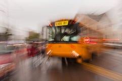 Daze del banco dello scuolabus Fotografie Stock Libere da Diritti